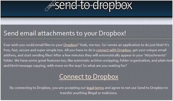Upload files to Dropbox