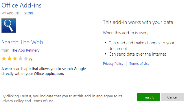 install and use add-ins
