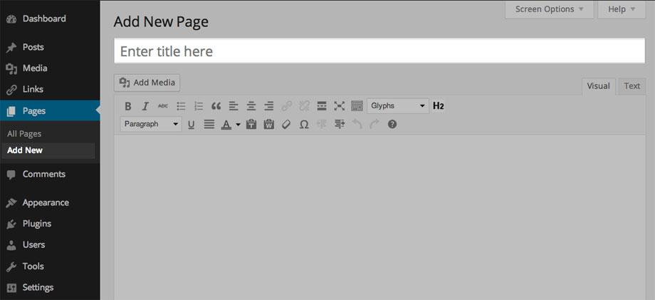 wordpress-add-a-new-page