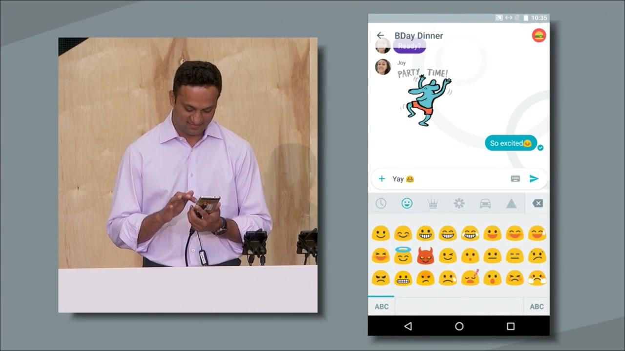 Google Messaging App Conversation