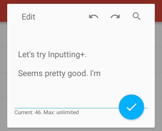 Inputting undo redo