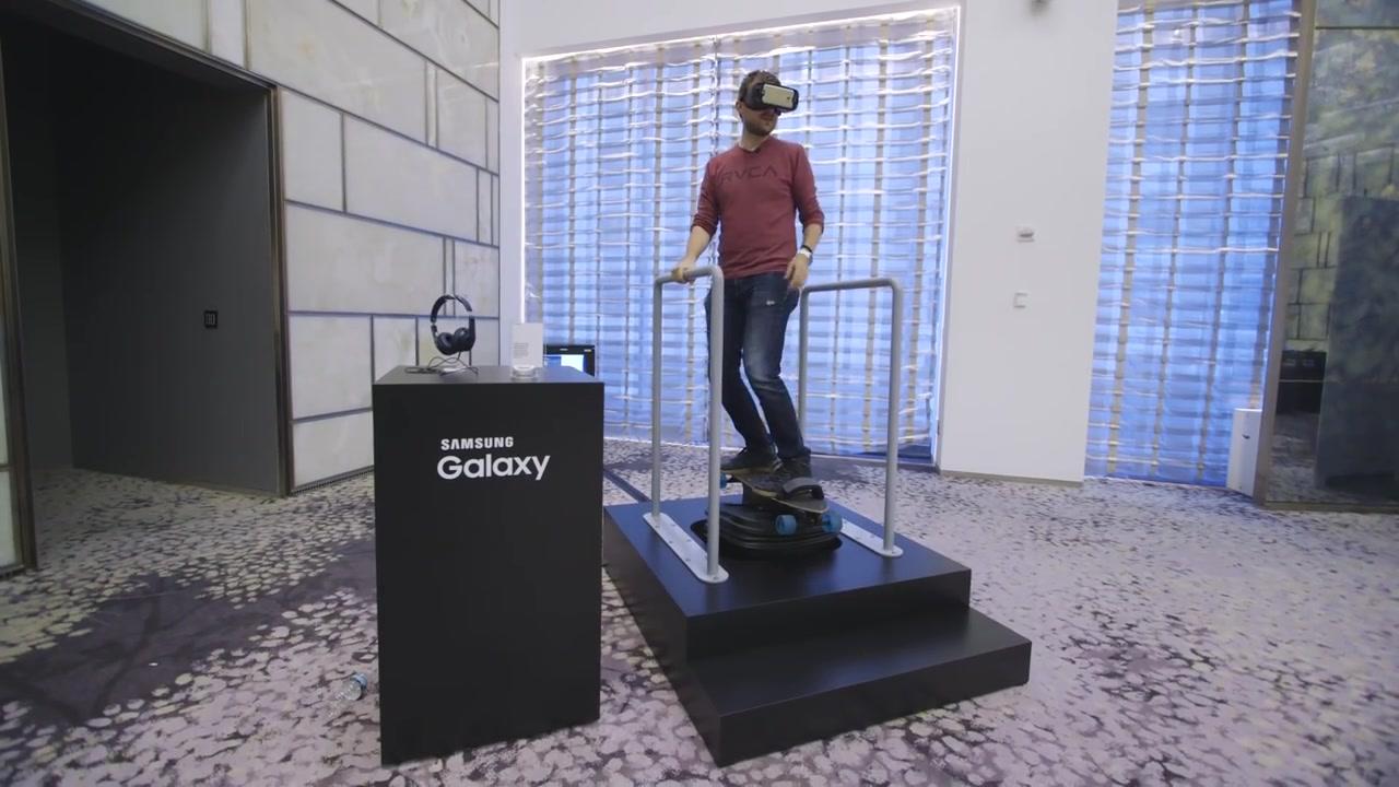 Samsung Gear VR has a wider field of view Skateboard