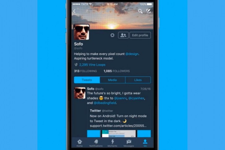 Twitter for iOS gets Night Mode