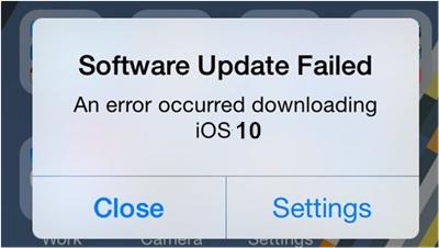 software-update-failed