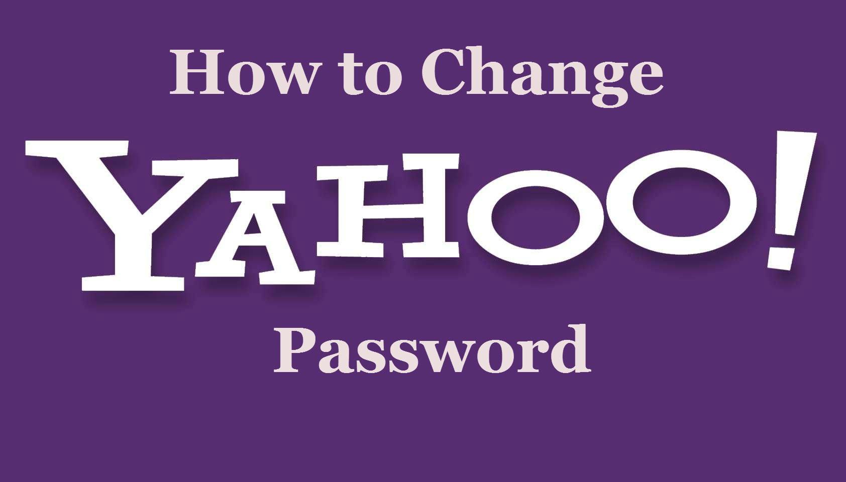 change email password yahoo