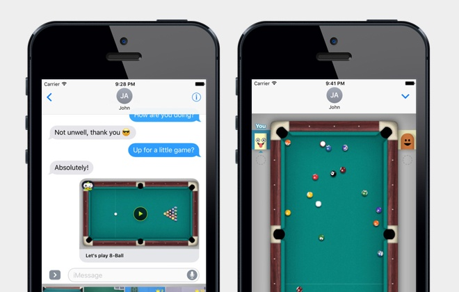 How to get the 8 ball in on the break imessage